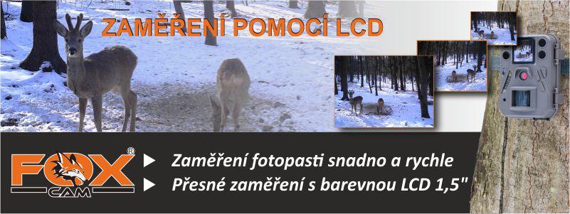 FOXcam zaměření fotopasti